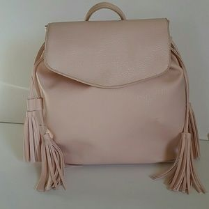 Pink Backpack with Tassels